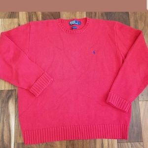 Polo Ralph Lauren Mens Sz L Red Crewneck Sweater